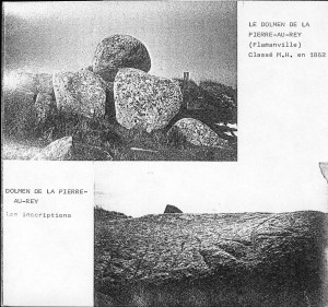 Inscriptions - Dolmen de la Pierre-Au-Rey